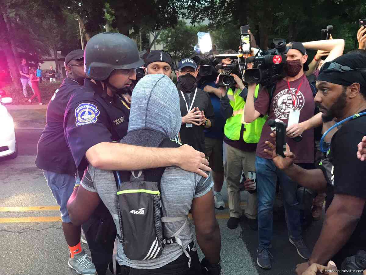 Indianapolis police response has shifted from tear gas to hugs. What happened?