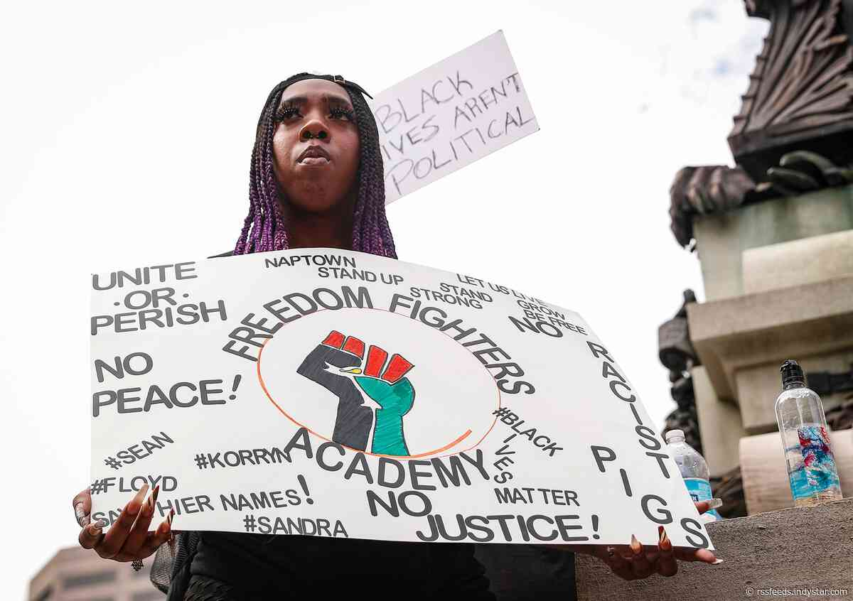 Demonstrators march for 7th day against police brutality in Indianapolis protests