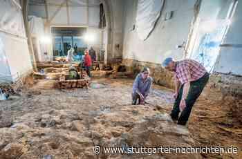Aufregender Fund in Uhingen - Archäologen legen Gruft in Gotteshaus frei - Stuttgarter Nachrichten