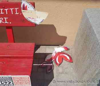 Gressan: Vandalizzata la 'panchina rossa' delle scuole - Valledaostaglocal.it