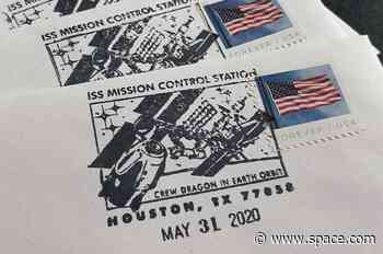 SpaceX Crew Dragon docking depicted on new Houston postmark