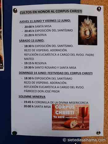 San Lázaro acoge el domingo 14 de junio el Corpus Christi - Siete Días Alhama