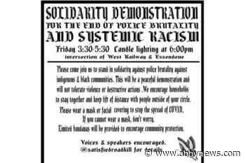 Abbotsford demonstration slated for Friday afternoon