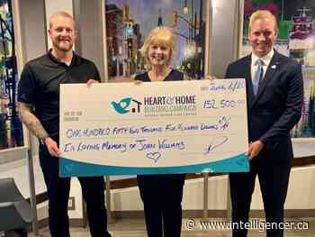 John Williams' legacy bring Hospice Quinte closer to goal - Belleville Intelligencer