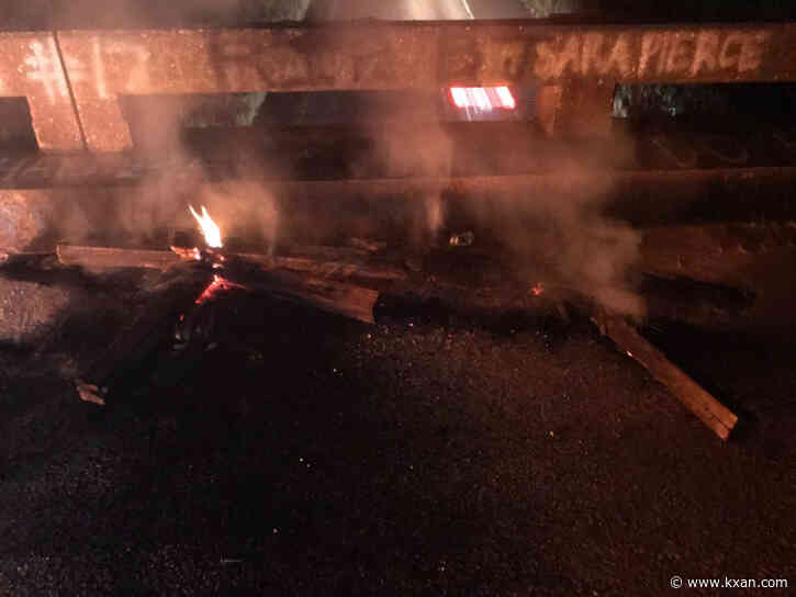 Cross burned on Alabama highway overpass
