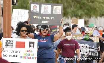 Who are the people leading the George Floyd protests in Phoenix?