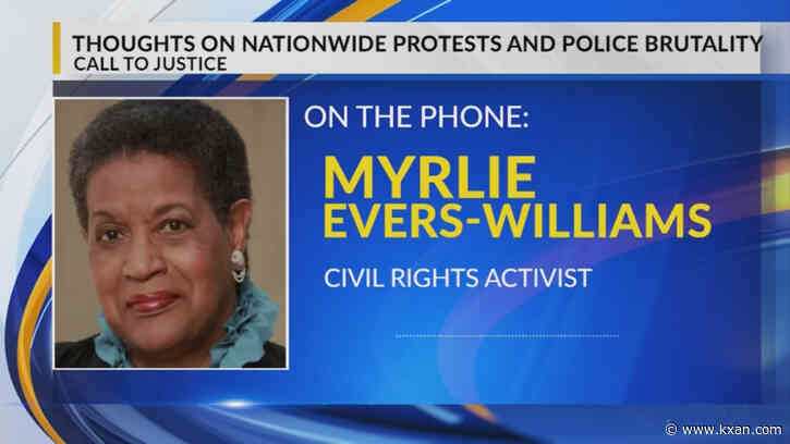 Civil Rights icon Myrlie Evers-Williams expresses her thoughts on death of George Floyd
