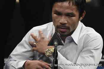 Manny Pacquiao injured shoulder vs Floyd Mayweather remains sore point - WBN - World Boxing News