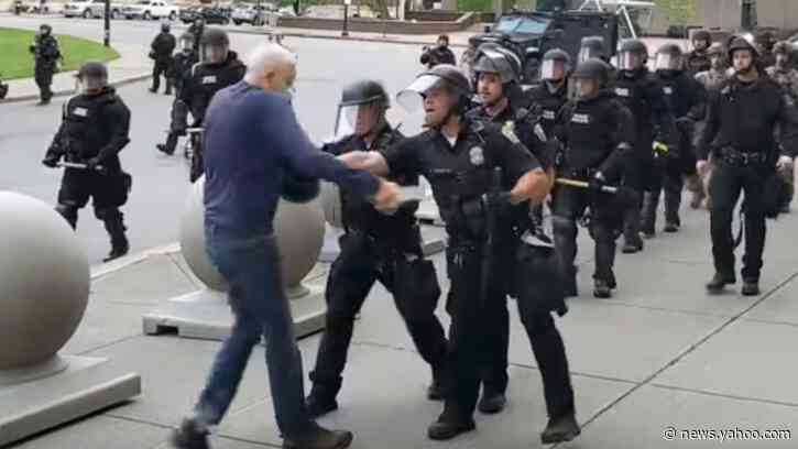 George Floyd protest updates: Elderly protester shoved by cops releases statement
