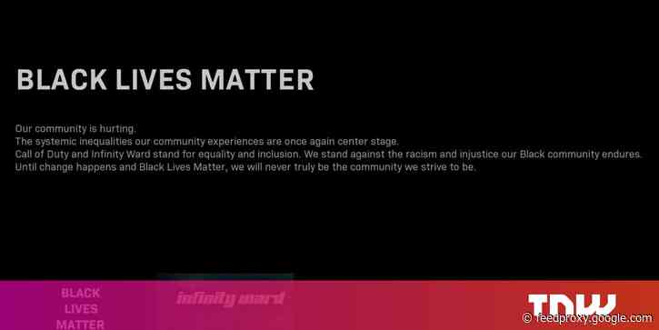 Call of Duty: Warzone now shows message of support for Black Lives Matter