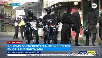 Noticias Policías se enfrentan a delincuentes en Santa Ana - TVN Panamá