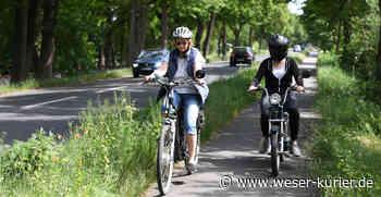 Worpsweder Radweg gleicht Flickenteppich - WESER-KURIER