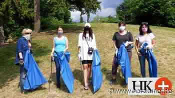 Schwanenpaten sammeln Müll am Juessee in Herzberg - HarzKurier
