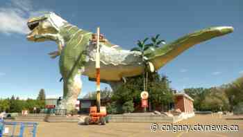 Drumheller's 'World's Largest Dinosaur' getting a face lift - CTV News