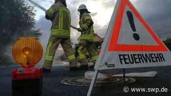 A7 bei Ellwangen: Lastwagen-Ladung fängt Feuer: Streckenabschnitt gesperrt - SWP