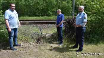 """Bahnstrecke Hamburg-Westerland: Gefährliche Abkürzung - """"wilder Bahnübergang"""" in Kremperheide soll geschlossen werden   shz.de - shz.de"""