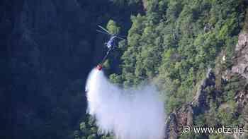 Erlösende Nachricht von der Roßtrappe: Waldbrand bei Thale gelöscht - Ostthüringer Zeitung