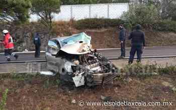 Tres heridos deja choque en Tlaxco - El Sol de Tlaxcala