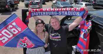 So war das KFC-Spiel gegen Mannheim im Autokino in Willich - Westdeutsche Zeitung