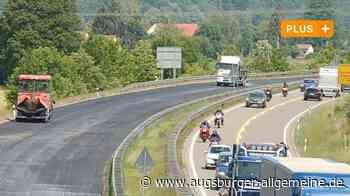 Die B2 wird zur Baustelle: Bundesstraße bei Meitingen erhält Flüsterasphalt - Augsburger Allgemeine