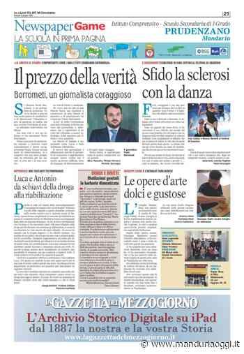 Pubblicata oggi la pagina del News Paper Game realizzata dagli studenti dell'istituto comprensivo 'Francesco Prudenzano' - ManduriaOggi