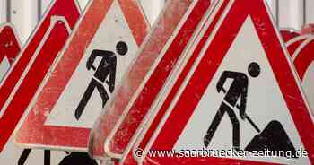 Bauarbeiten auf der Kaiserstraße in Kirkel-Neuhäusel - Saarbrücker Zeitung