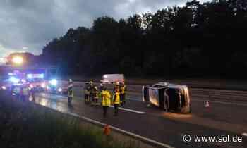 Schwerer Unfall auf A8 zwischen Neunkirchen und Kirkel - Vollsperrung der Autobahn - sol.de