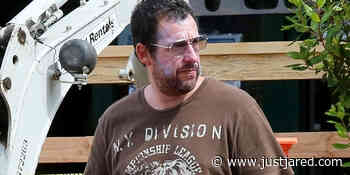 Adam Sandler Layers On Sunscreen While Wearing a Mask Out in LA - Just Jared