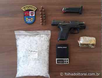Pistola, munições e drogas são apreendidas em Matinhos - Folha do Litoral News