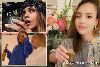 Kylie Jenner, Jessica Alba, Halle Berry booze the boredom away in lockdown during the coronavirus pandemic - The Sun