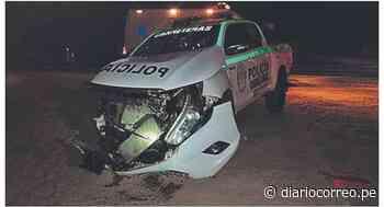 Lambayeque: Tráiler embiste a vehículo policial en Mórrope - Diario Correo