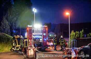 Feuer in Aidlingen - Mann verletzt sich bei Schuppenbrand schwer - Stuttgarter Zeitung