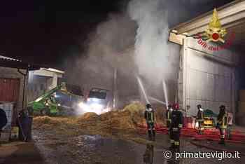 Incendi domati in una cascina ad Arcene e alla Tenaris Dalmine FOTO - Giornale di Treviglio