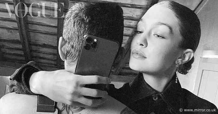 Pregnant Gigi Hadid and shirtless Zayn Malik share steamy mirror selfie - Mirror Online