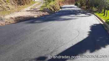 Asfaltamento da estrada de São Sebastião dos Robertos, em Jacutinga, é concluído - ® Portal da Cidade   Andradas