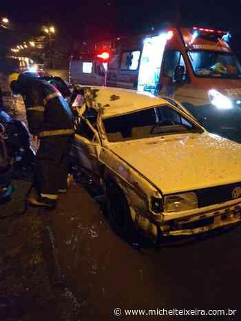 Homem fica estado grave após acidente entre carro e caminhonete em Fraiburgo - Michel Teixeira