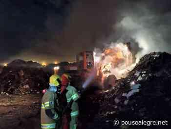 Depósito de materiais recicláveis pega fogo em Pouso Alegre - PousoAlegre.net