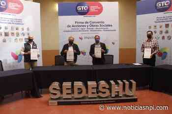 Alcalde de Valle de Santiago firma convenios de obra con SEDESHU - Noticias NPI