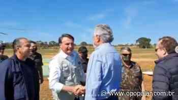 Ronaldo Caiado acompanha Bolsonaro na visita em Formosa - O Popular