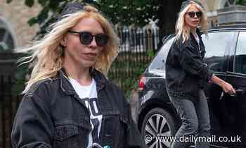 Billie Piper steps out wearing a Choose Love T-shirt - Daily Mail