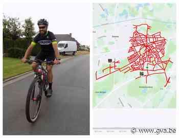 Burgemeester fietst door alle straten van zijn gemeente (goed voor 122 kilometer) - Gazet van Antwerpen