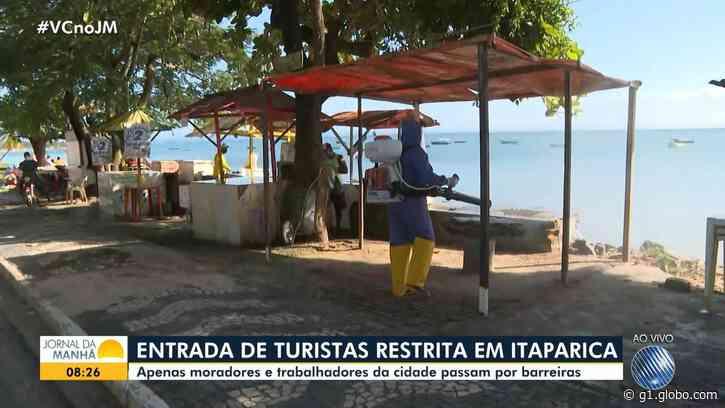 Covid-19: Itaparica restringe entrada de turistas na cidade; veja outras medidas - G1