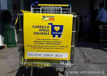 Un carrello solidale da Caronno Pertusella per i ragazzi della comunità Dianova di Garbagnate Milanese - Varesenews