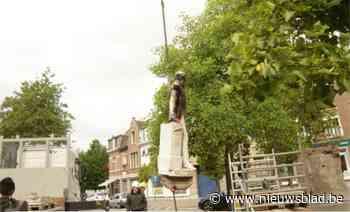 Standbeeld koning Leopold II van zijn sokkel gehaald in Ekeren