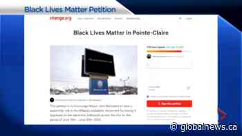 """Grassroots movement aims to have """"Black Lives Matter"""" light up Pointe-Claire billboard 