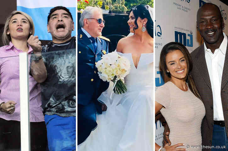 Sports icons who date younger women including Michael Jordan, Ilie Nastase, Diego Maradona, Tiger Woods and Jimmy White