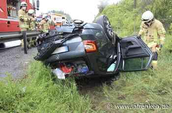 A9 bei Gefrees: Auto überschlägt sich mehrfach bei Unfall - Ersthelfer retten Fahrerin - inFranken.de