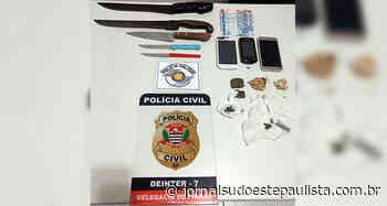 Polícia detém indivíduos por comércio de drogas em Piraju - Jornal Sudoeste Paulista