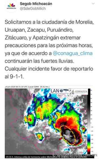 Alerta de SEGOB para Morelia, Apatzingán, Zitácuaro, Uruapan, Zacapu y Puruándirio, por fuertes lluvias - Informativo La Región