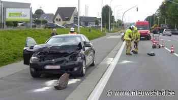 Automobilist (47) gewond na kop-staartbotsing